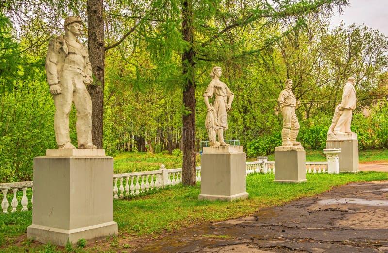 Skulpturer av USSR fotografering för bildbyråer