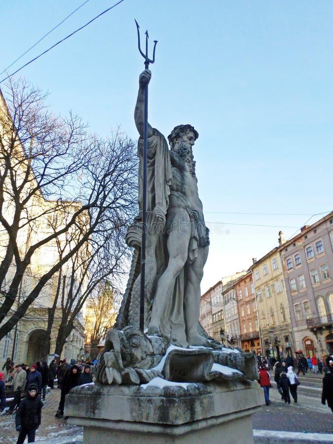 Skulpturer i staden royaltyfri bild