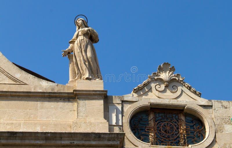 Skulpturer och arkitektur av Catania Sicilien arkivfoto