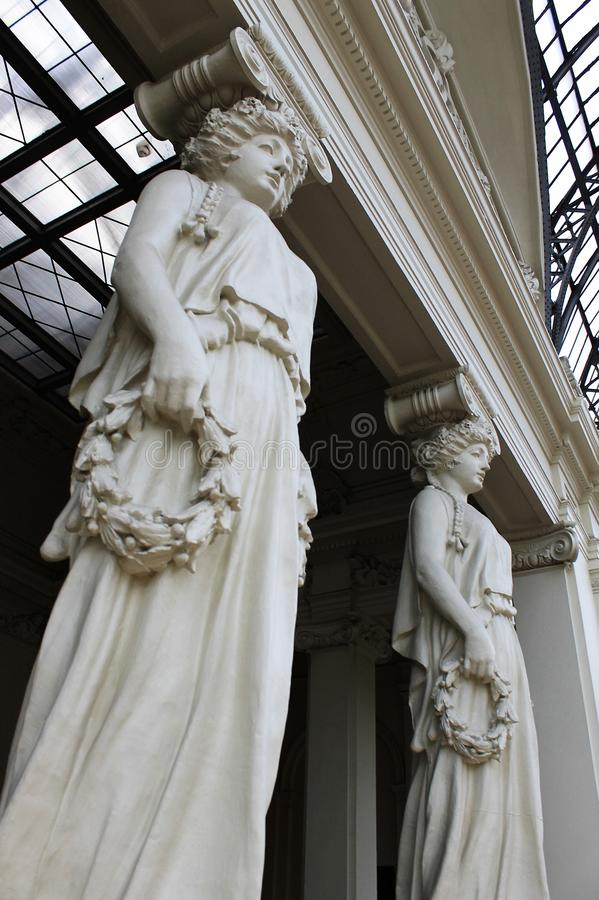 Skulpturstatymuseet marmorerar stor konstarkitektur arkivfoton