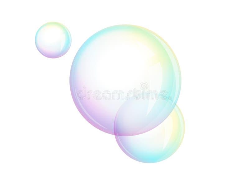 Skum - såpbubblor,  vektor illustrationer