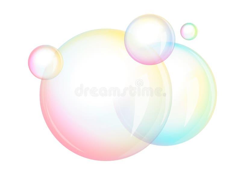 Skum - såpbubblor,  royaltyfri illustrationer