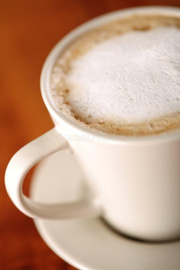 skummat kaffe dof mjölkar grunt arkivfoto