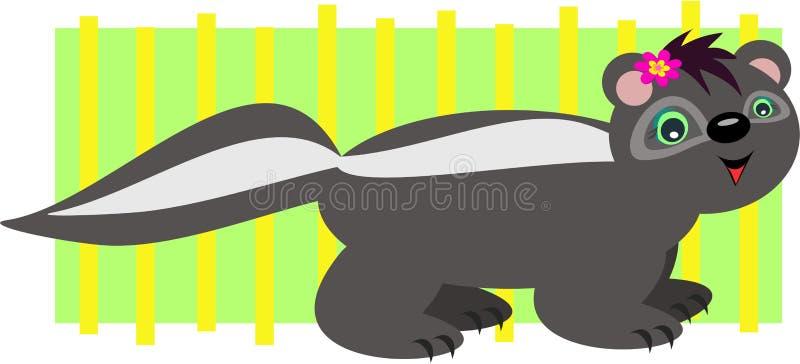 Skunk Stripes stock illustration