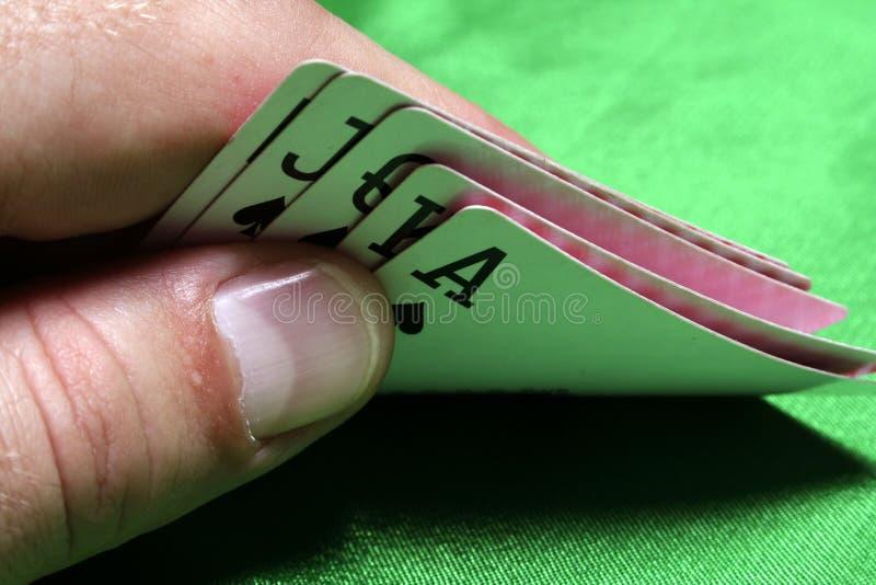 skupienie się kart sztuczki zdjęcie royalty free