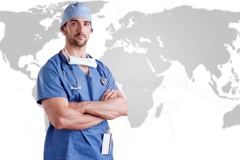 skurar kirurgen fotografering för bildbyråer