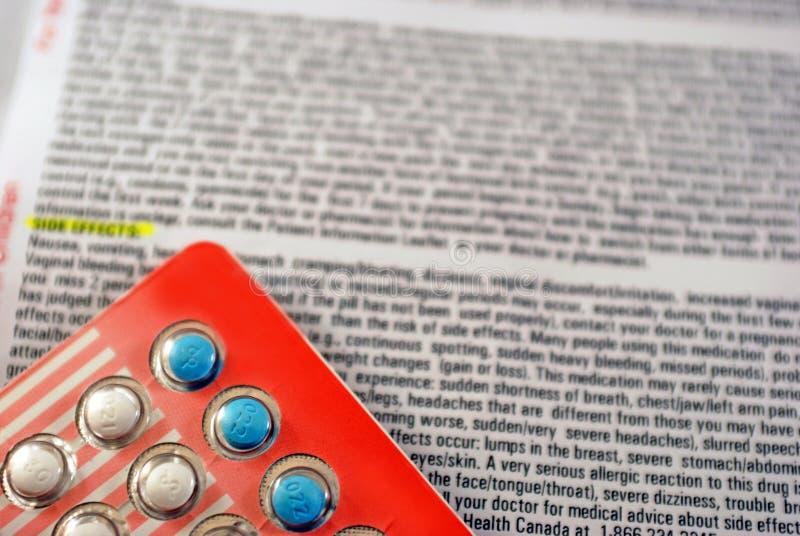 skutek antykoncepcyjna strona zdjęcia stock