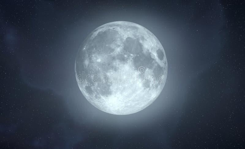 skutek folował jarzeniową księżyc royalty ilustracja