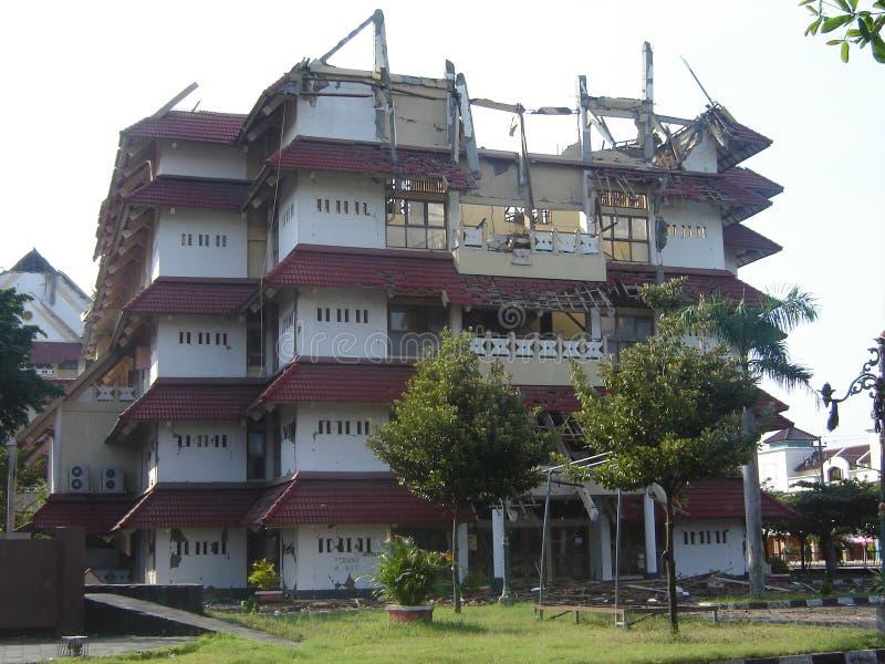 skutek trzęsienia ziemi obrazy stock