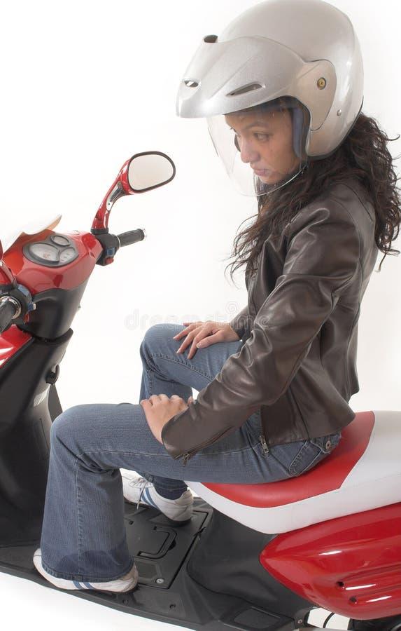 skutery kierują kobieta zdjęcia royalty free