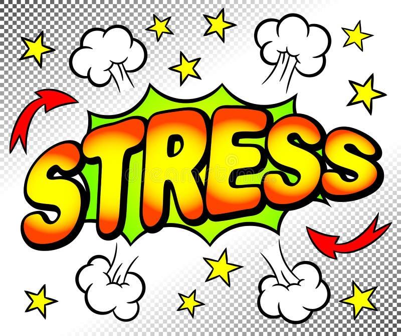 Skutka bąbel z stresem royalty ilustracja