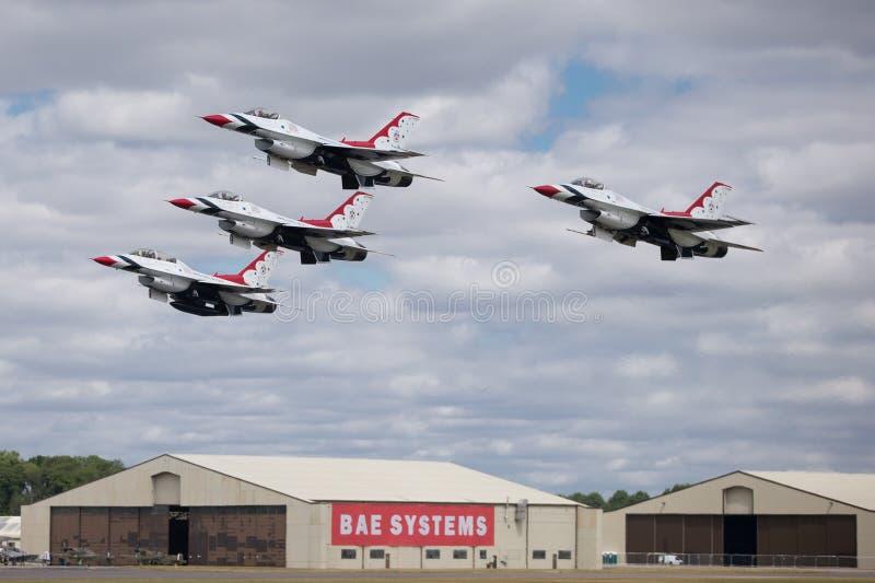 Skvadron för U.S.A.F.-luftdemonstration fotografering för bildbyråer