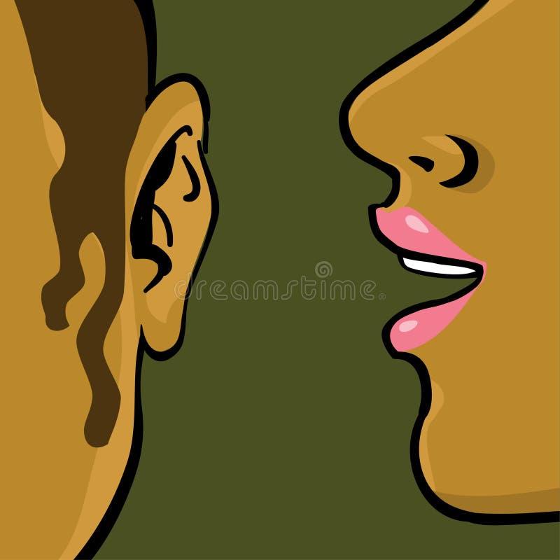 skvallra kvinnan stock illustrationer