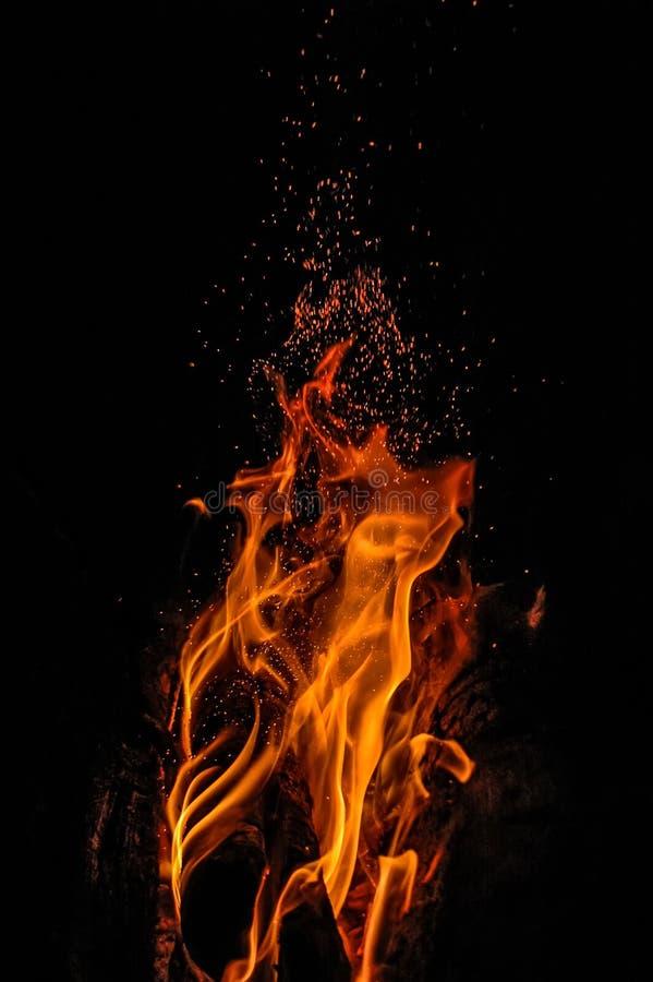 Skwarkowy ogień obrazy stock