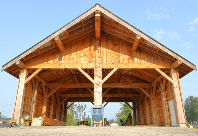 Skway First Nations Boathouse royalty free stock photos