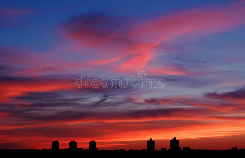 Download Sky [1] stock photo. Image of gale, glass, clouds, reflex - 165624