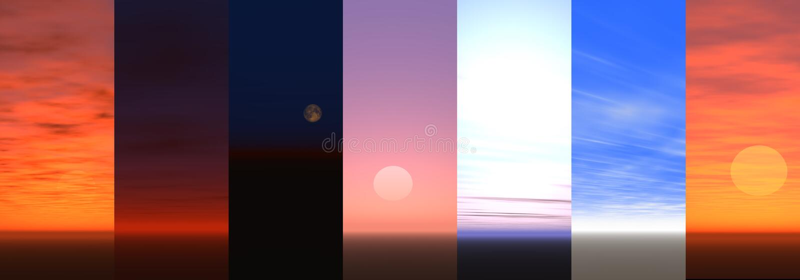 sky vektor illustrationer