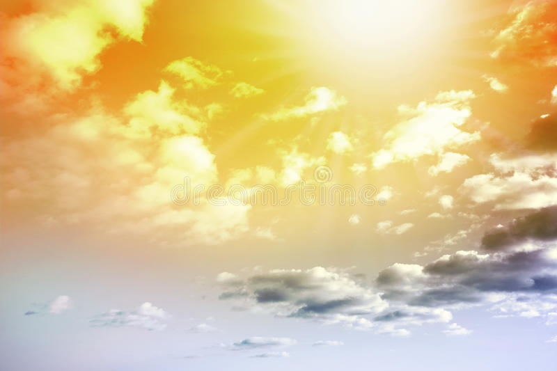 Sky. Bright summer sky, natural background stock photo