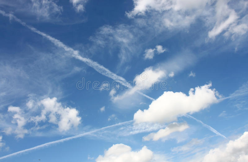 Download Sky stock photo. Image of heaven, transportation, traces - 24728372