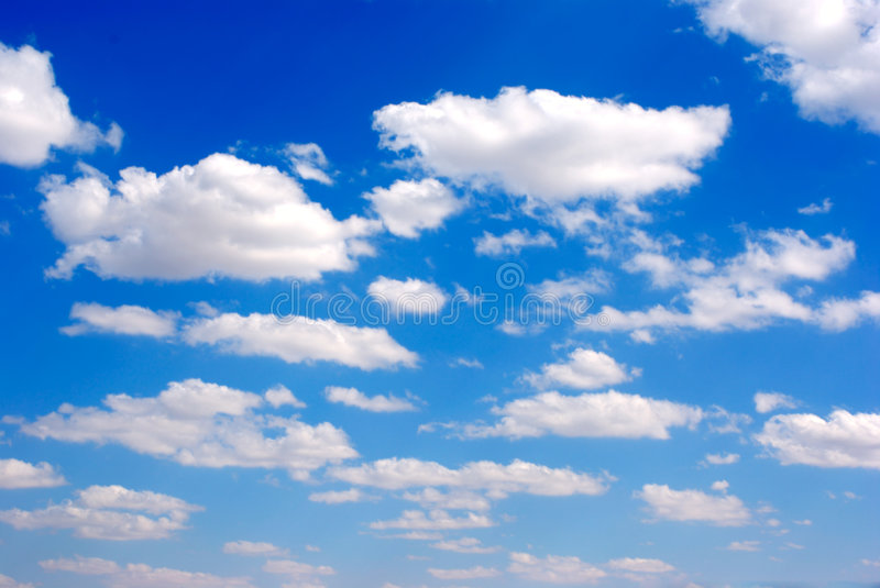 Sky. Nice blue fall cloudy sky royalty free stock images