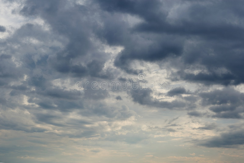 Sky. The cloudy sky above lake royalty free stock photography