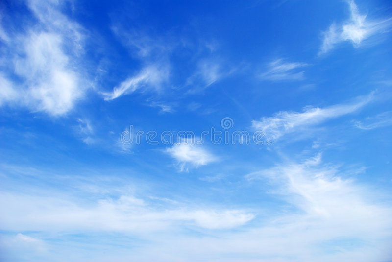 Sky. Sunny sky background whith clouds