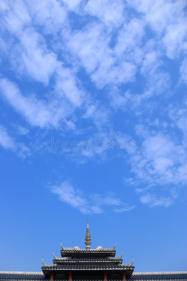 Sky. Blue sky with white clouds floating stock images