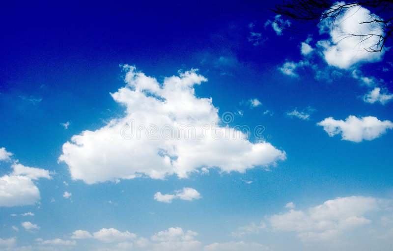 Sky adn cloud royalty free stock images