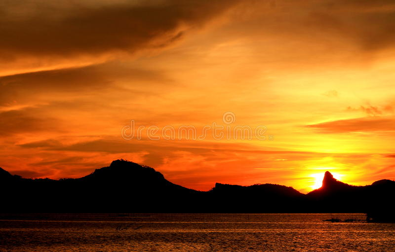 The sky afire royalty free stock photo