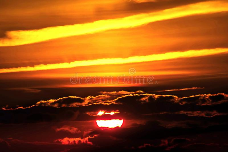 Sky, Afterglow, Red Sky At Morning, Sunset royalty free stock photography
