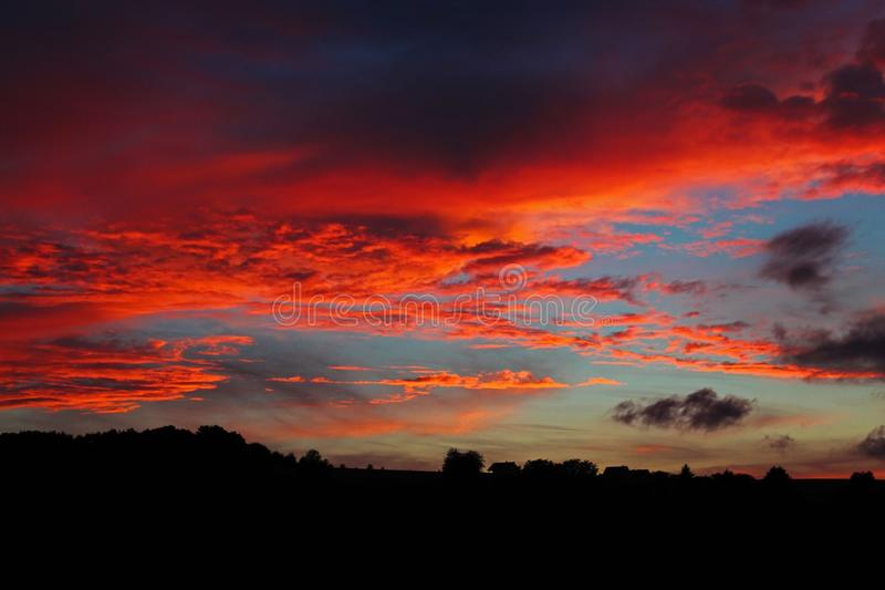 Sky, Afterglow, Red Sky At Morning, Sunset stock photography