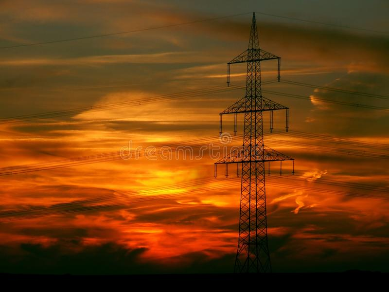 Sky, Afterglow, Red Sky At Morning, Electricity stock photos