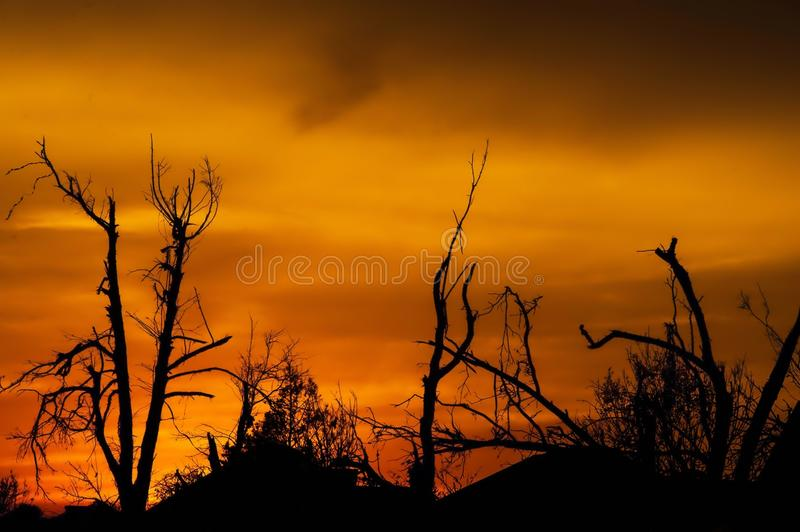 Sky, Afterglow, Red Sky At Morning, Sunrise stock image