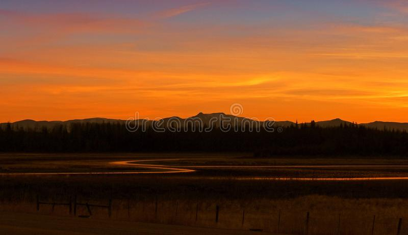Sky, Afterglow, Reflection, Red Sky At Morning royalty free stock photo