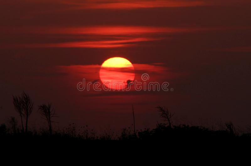 Sky, Afterglow, Sunrise, Red Sky At Morning royalty free stock images