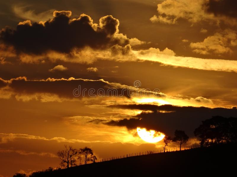 Sky, Afterglow, Sunset, Cloud royalty free stock photography