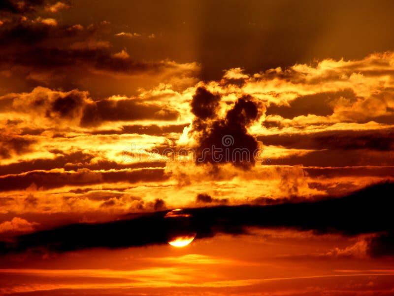 Sky, Afterglow, Sunset, Cloud royalty free stock photos