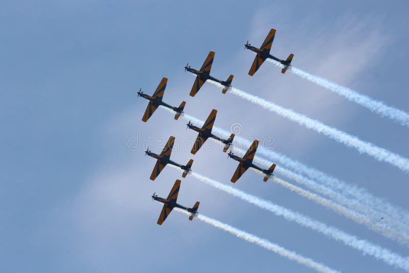 Sky, Air Show, Aerobatics, Airplane royalty free stock photos