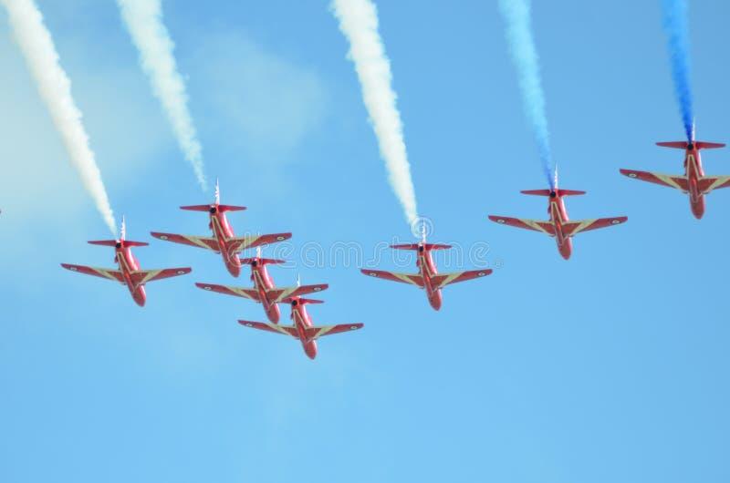 Sky, Air Show, Aviation, Aerobatics stock photo