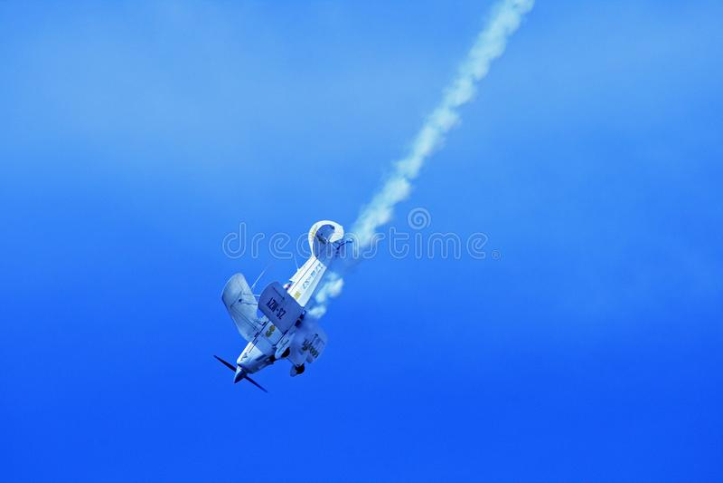 Sky, Air Show, Aviation, Aerobatics royalty free stock photography