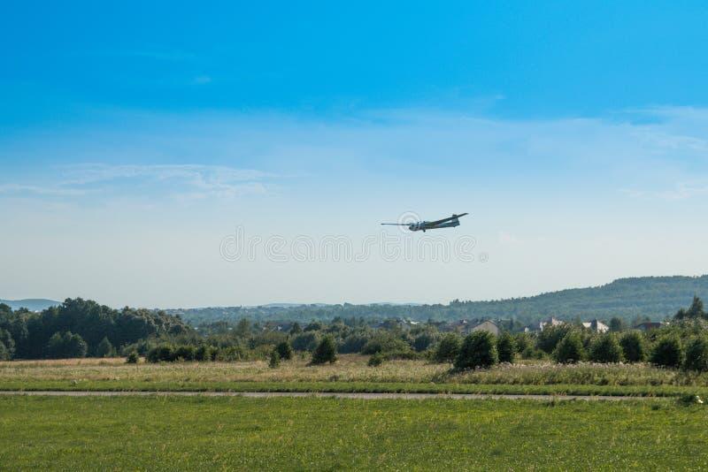 Sky, Airplane, Flight, Field stock photos