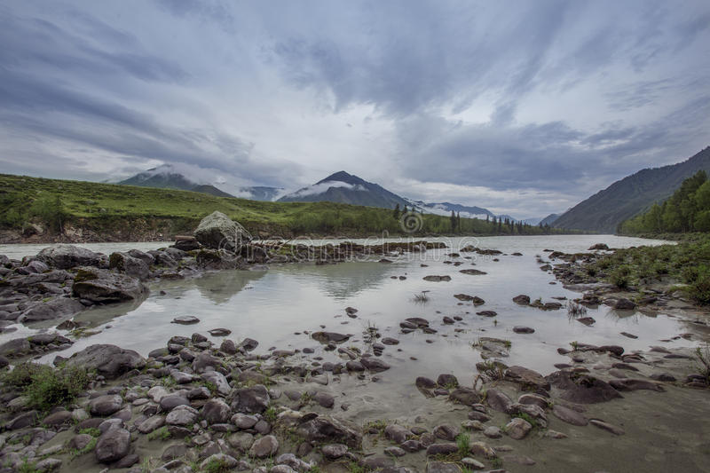 The sky of the Altai Mountains stock images