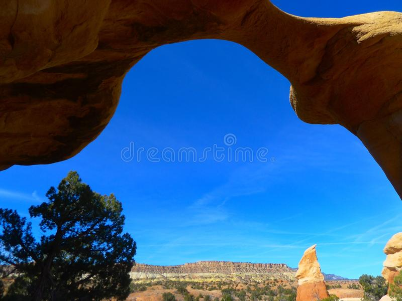Sky, Arch, Rock, Natural Arch stock image
