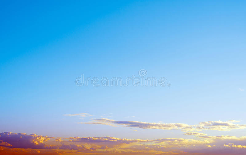 Sky atmosphere clear clouds royalty free stock photo
