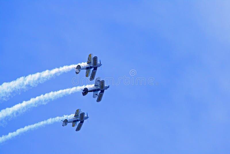 Sky, Aviation, Air Show, Aerobatics royalty free stock image