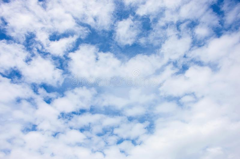 Sky background is full of soft clouds royalty free stock image