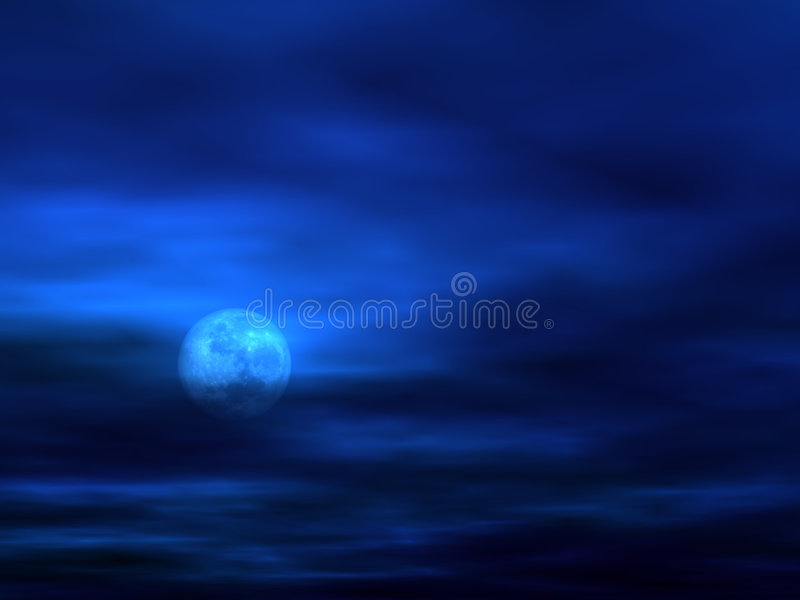 Sky background with Moon [3] stock illustration