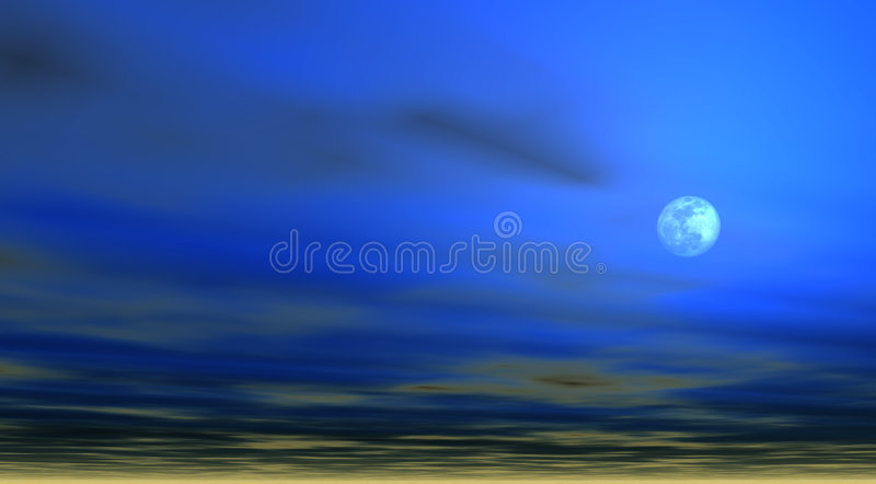Download Sky Background With Moon [4] Stock Illustration - Image: 37859