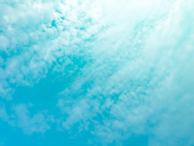 Soft clouds  In the sky with gentle pastel gradients. The sky background and soft natural clouds have pastel gradients in a variety of colors royalty free stock photo