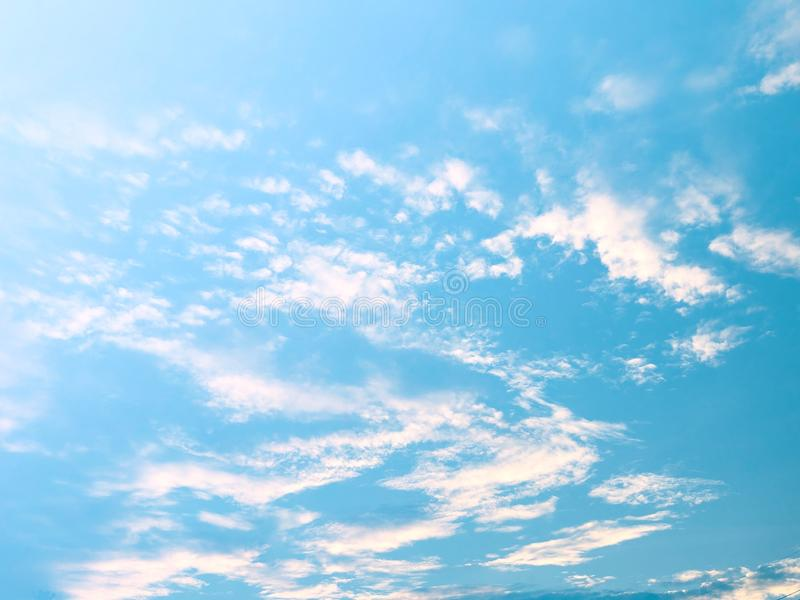 Soft clouds  In the sky with gentle pastel gradients. The sky background and soft natural clouds have pastel gradients in a variety of colors royalty free stock photography